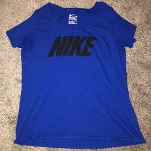 royal blue nike t shirt
